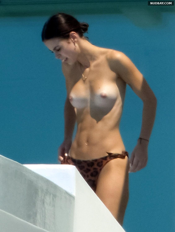Lena Meyer-Landrut topless in Mykonos Aug 20 2017