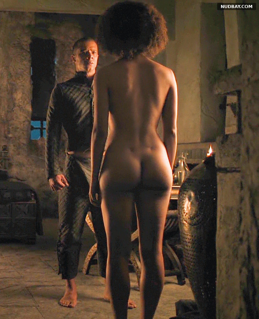 Nathalie Emmanuel nude ass in Game of Thrones S07E02 (2017)