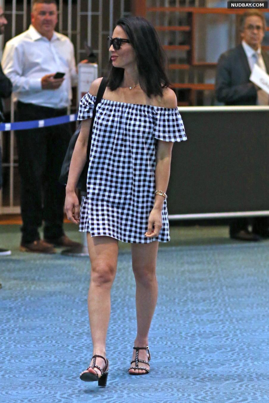 Olivia Munn arrives at shooting The Predator in Vancouver May 28 2017