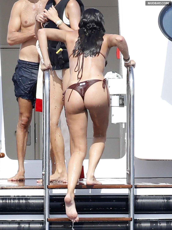 Sara Sampaio Booty on a yacht in Corsica Aug 04 2021