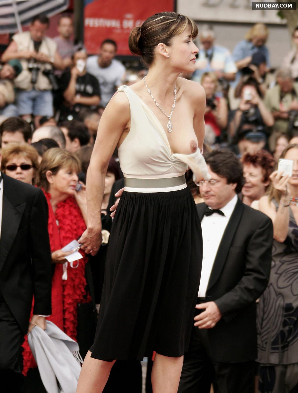 Sophie Marceau Nip slip at Festival of Cannes May 13 2005
