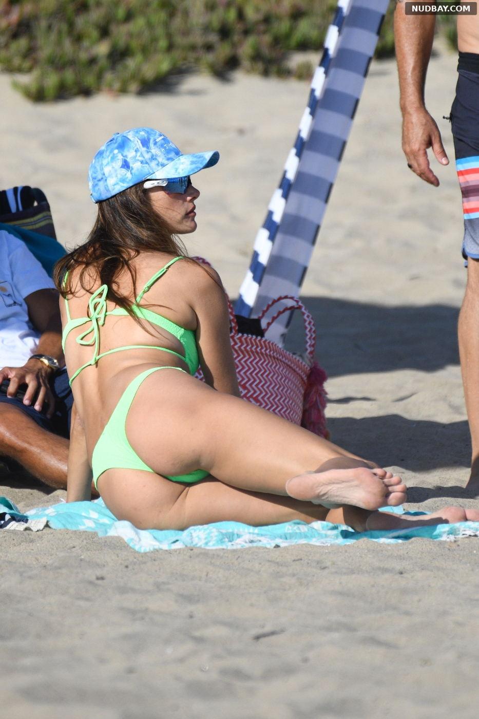 Alessandra Ambrosio Ass at the beach in LA Aug 29 2021