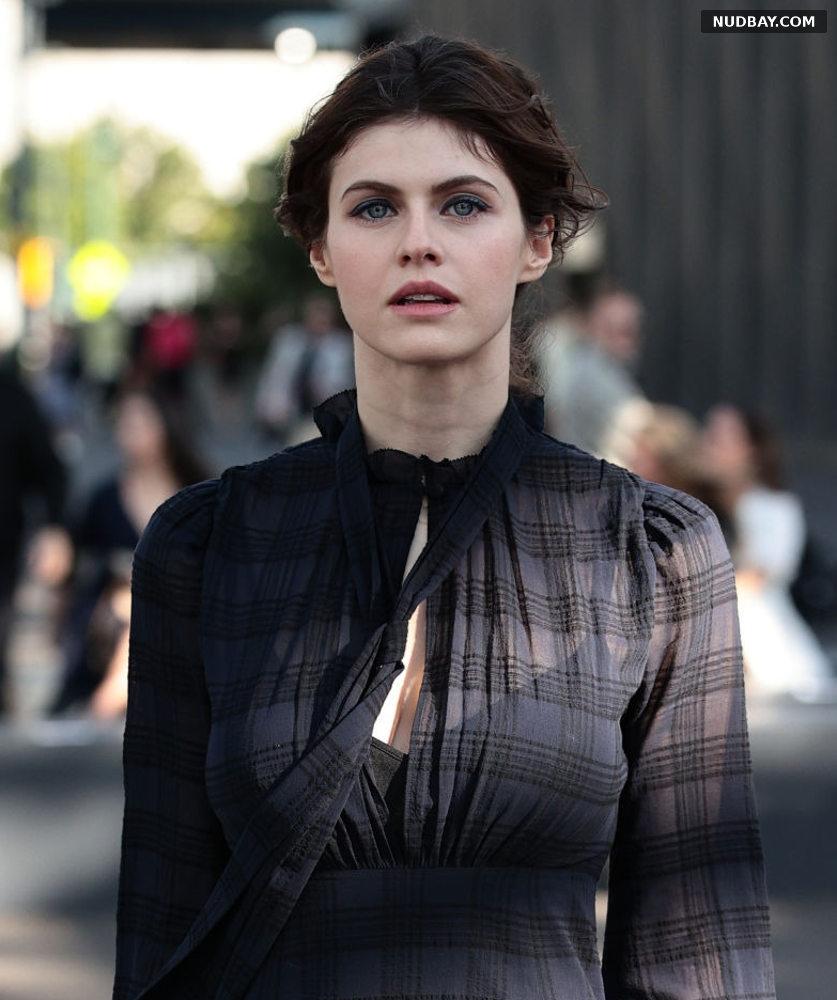 Alexandra Daddario Coach show during New York Fashion Week Sep 10 2021