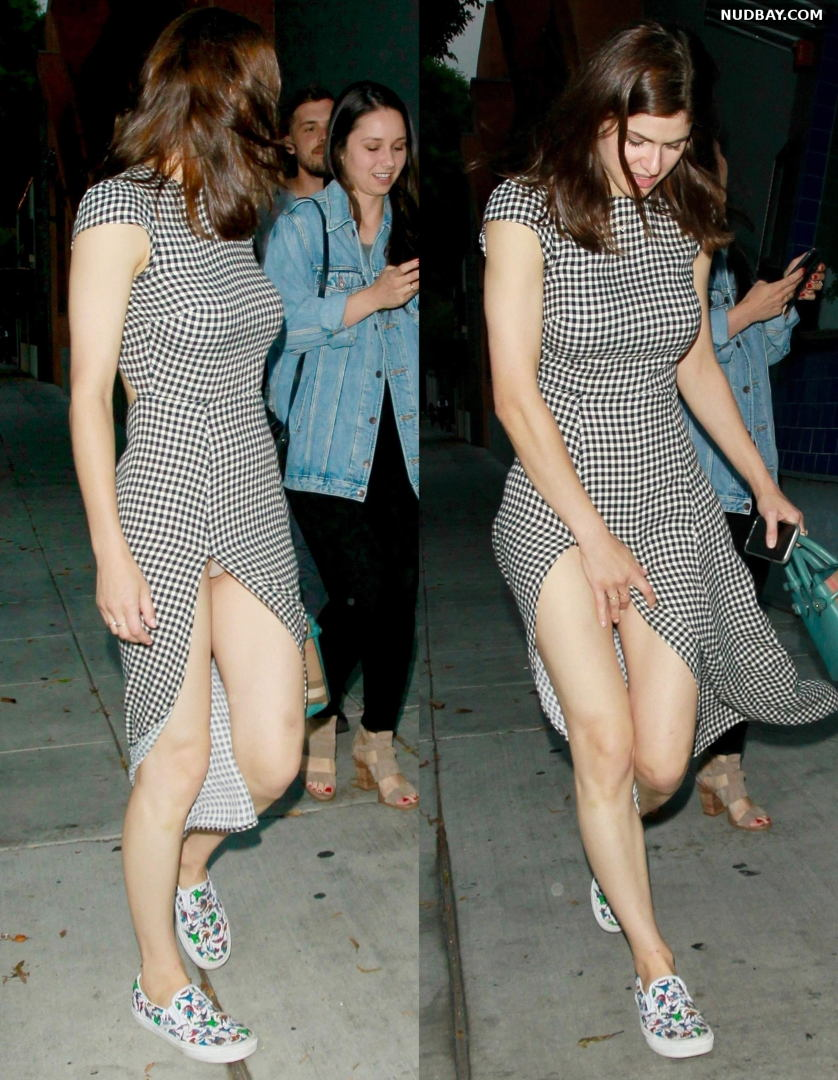 Alexandra Daddario Upskirt & Pussy Out in Los Angeles Aug 11 2018