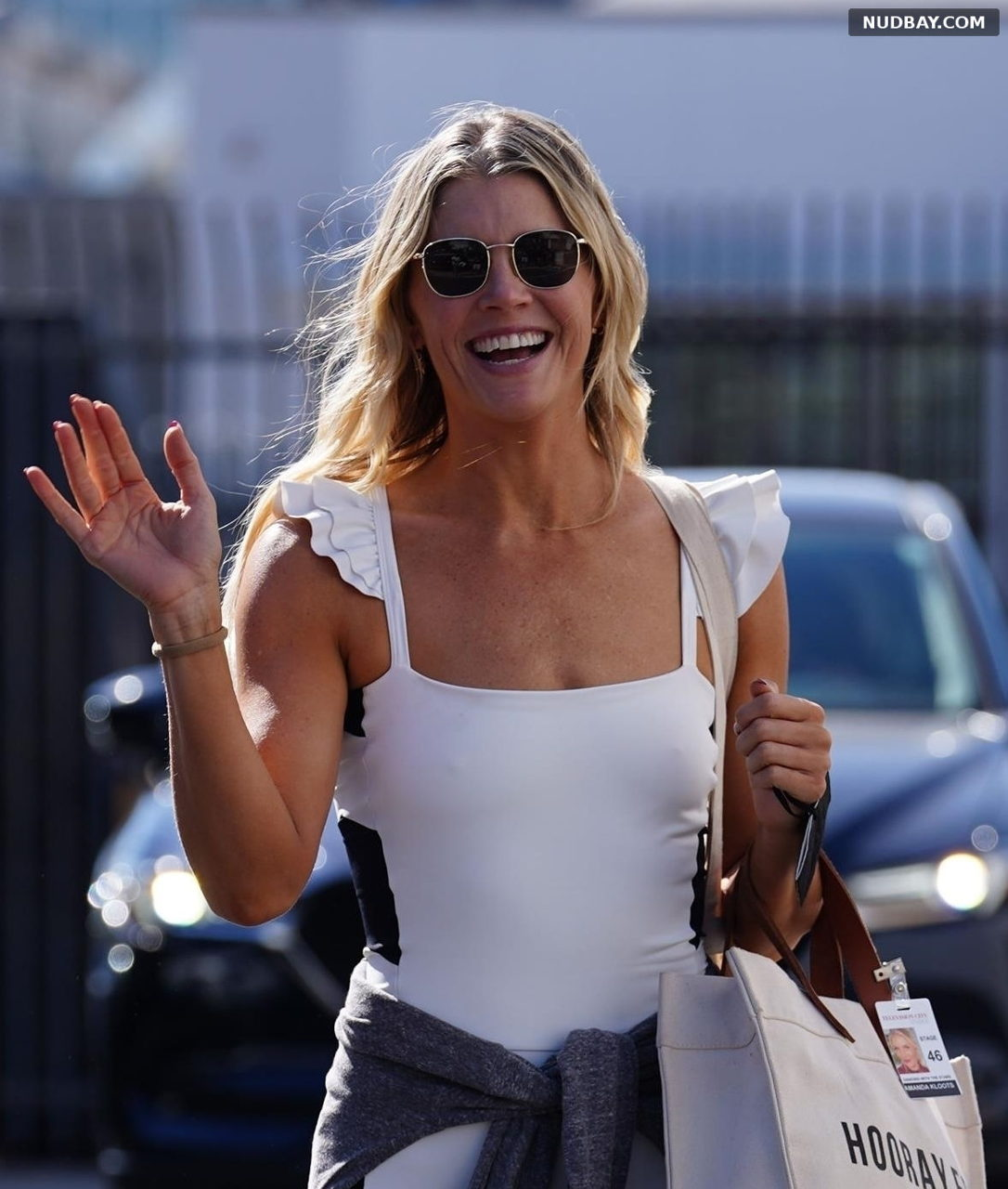 Amanda Kloots Pokies goes at the Dancing With The Stars rehearsal studio in Los Angeles Sep 21 2021