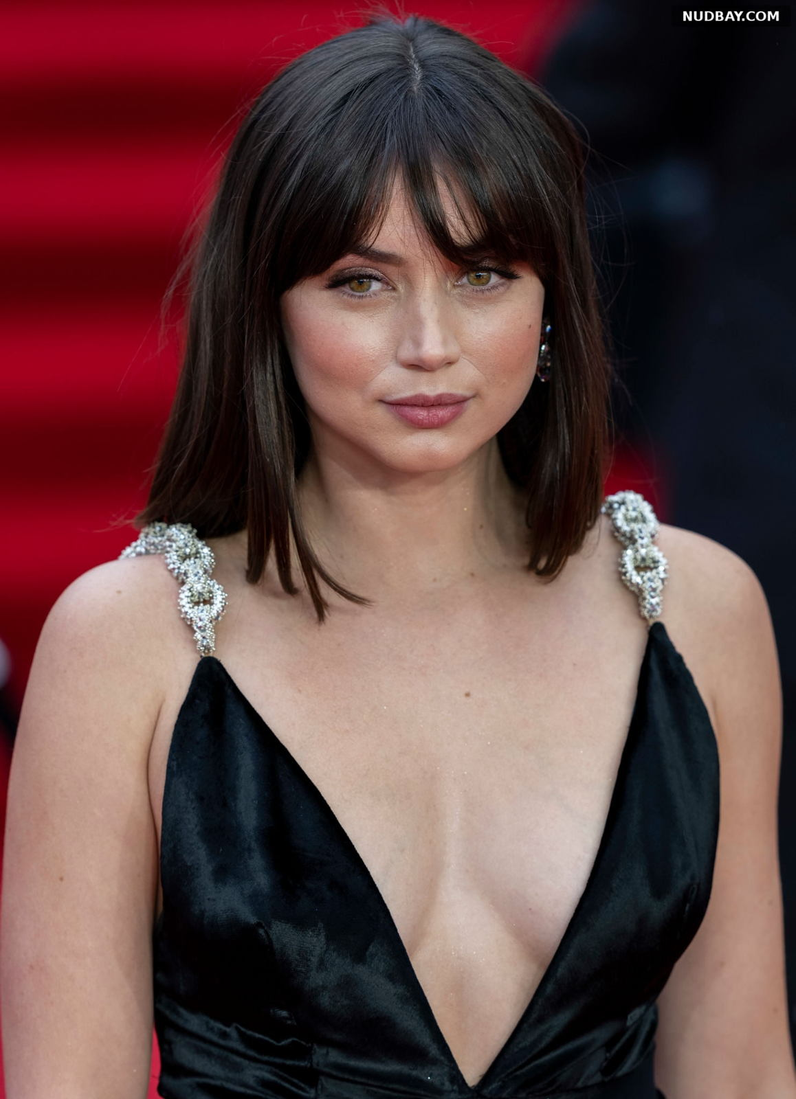 Ana de Armas Cleavage at the premiere of 'No Time To Die' in London September 28 2021