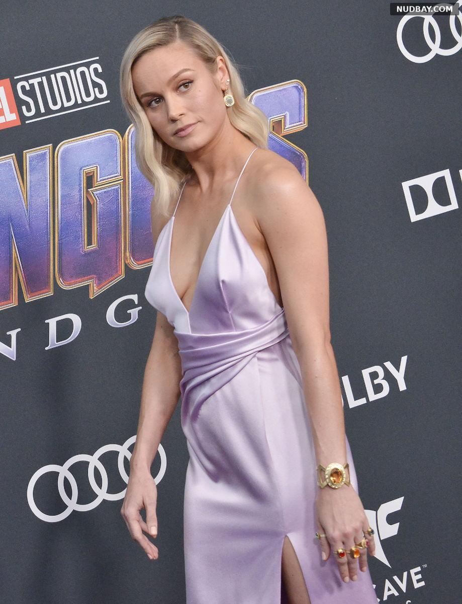 Brie Larson Cleavage Avengers: Endgame Film Premiere in Los Angeles Apr 22 2019
