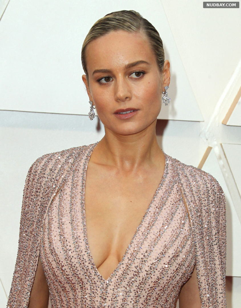 Brie Larson Cleavage at 92nd Annual Academy Awards Feb 09 2020