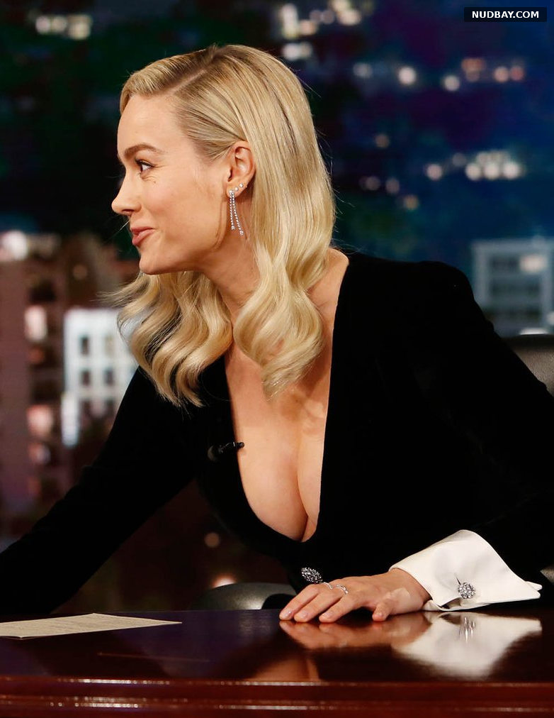 Brie Larson Cleavage at Jimmy Kimmel Live December 18 2019
