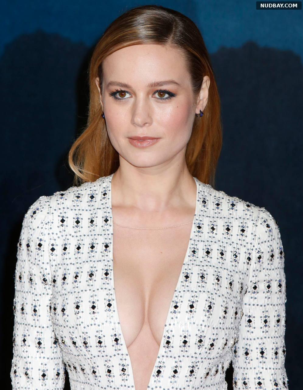 Brie Larson Cleavage at Kong: Skull Island premiere in London Feb 28 2017
