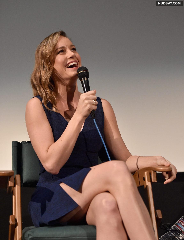 Brie Larson Upskirt at the Aero Theatre in Santa Monica December 21 2015