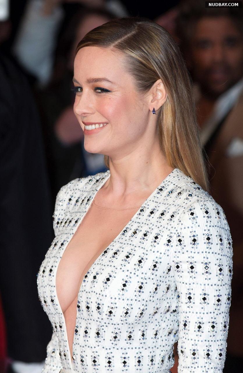 Brie Larson boobs at Kong: Skull Island premiere in London Feb 28 2017