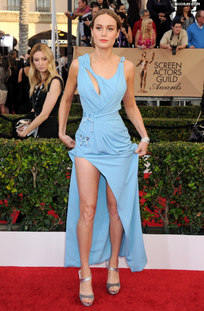 Brie Larson leggy at 22nd Annual Screen Actors Guild Awards in Los Angeles Jan 30 2016