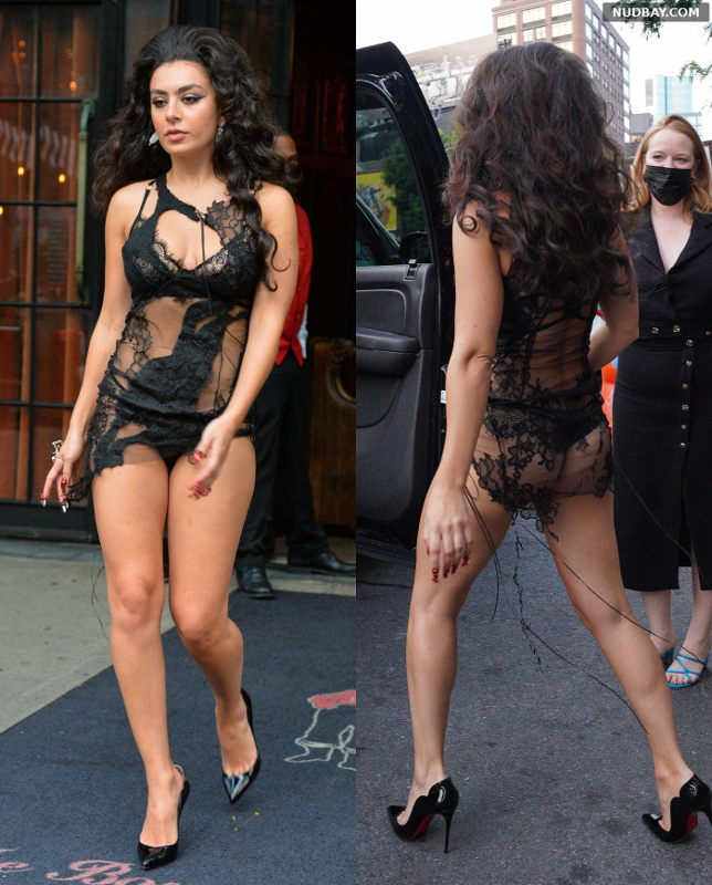 Charli XCX booty leaving The Hotel in New York Sep 12 2021 1