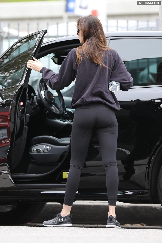 Dakota Johnson Ass outside a gym in Burbank Dec 14 2018