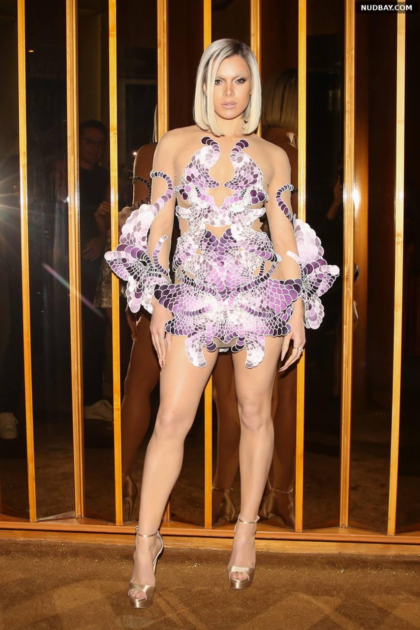 Hailee Steinfeld Leggy Met Gala after party in September 13 2021