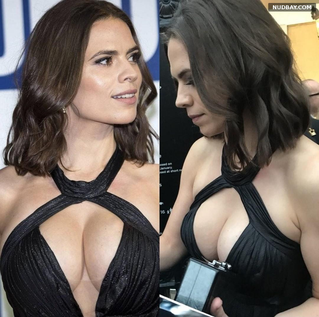 Hayley Atwell nude tits at Film Festival Awards in London Oct 14 2017