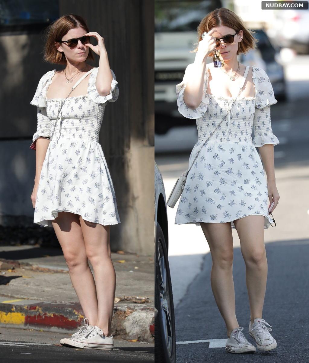 Kate Mara leaves Little Dom's restaurant in Los Feliz Sep 20 2021