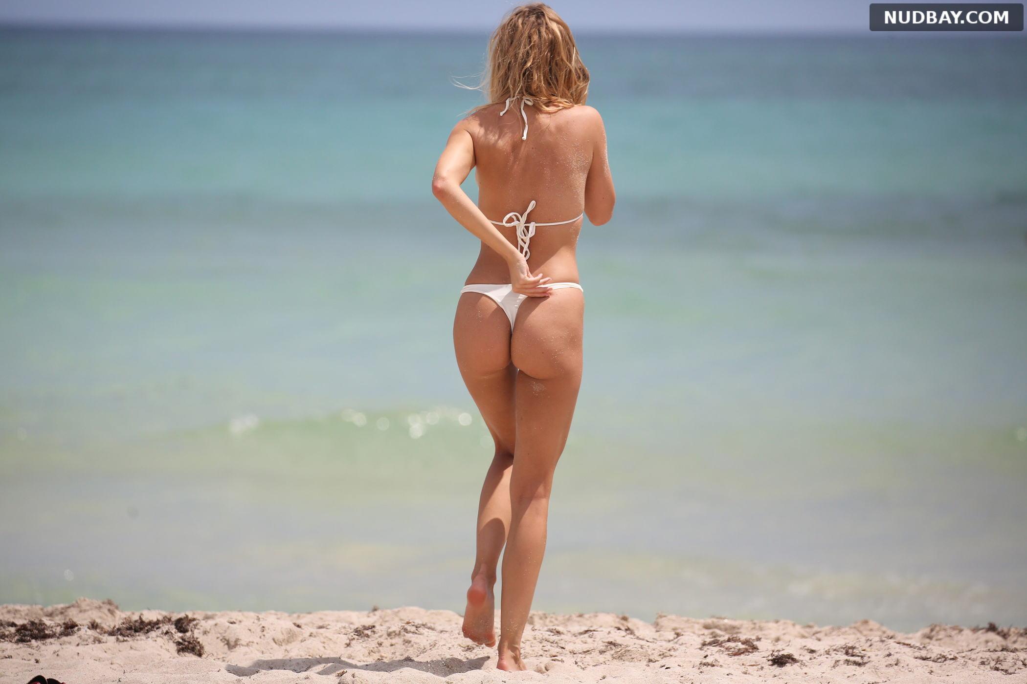 Kimberley Garner Ass bikini on the beach in Miami Apr 02 2019