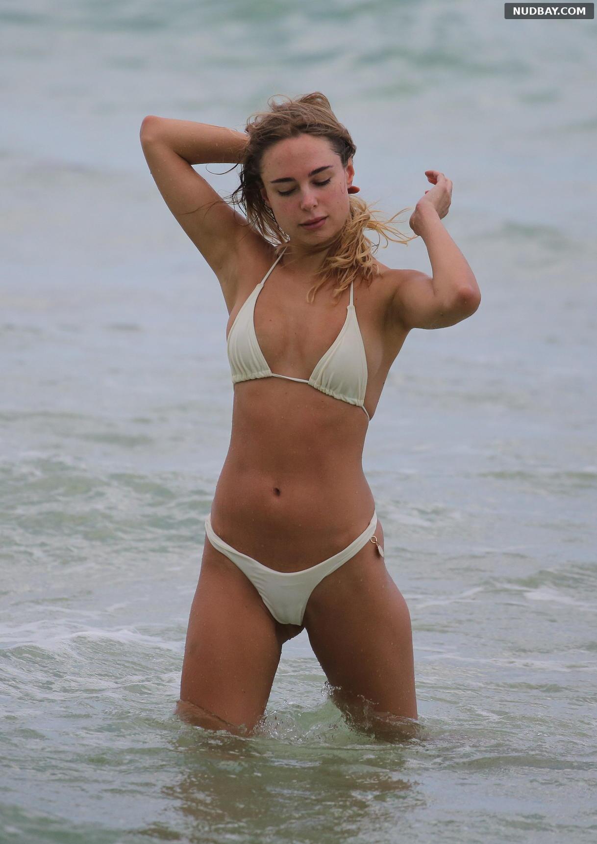Kimberley Garner cameltoe bikini on holiday in Miami Apr 02 2019