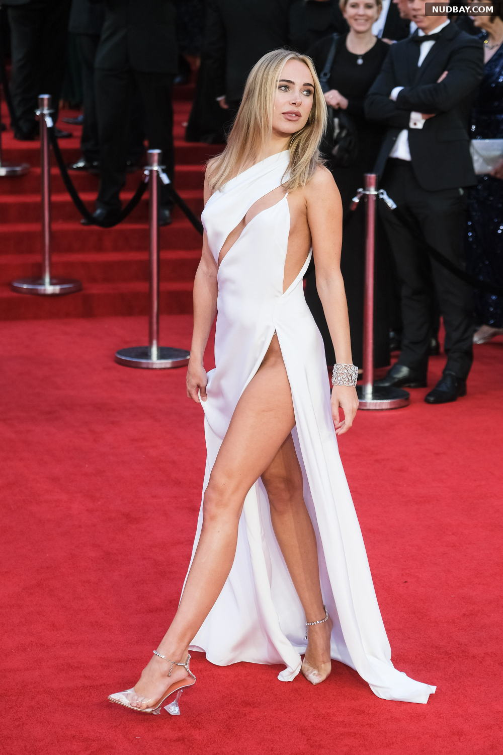 Kimberley Garner leggy at the premiere of No Time To Die in London September 28 2021
