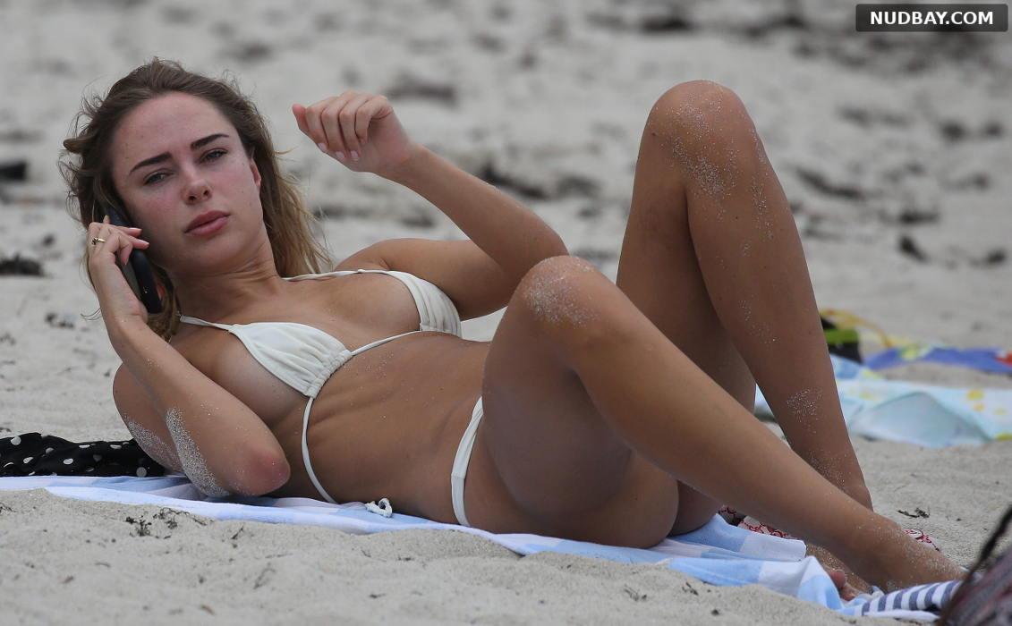 Kimberley Garner nude on the beach in Miami Apr 02 2019 1