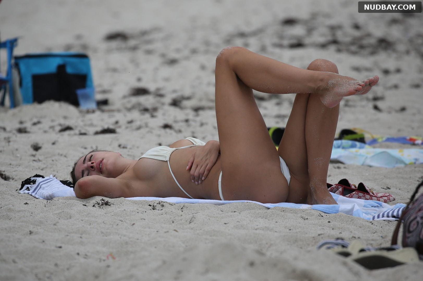 Kimberley Garner pussy bikini on holiday in Miami Apr 02 2019