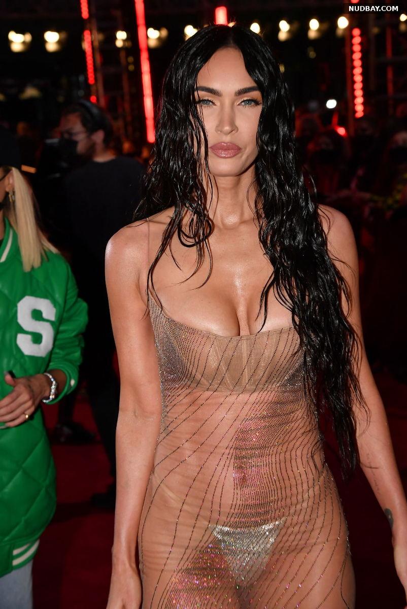 Megan Fox Cleavage at MTV Video Music Awards in New York Sep 12 2021
