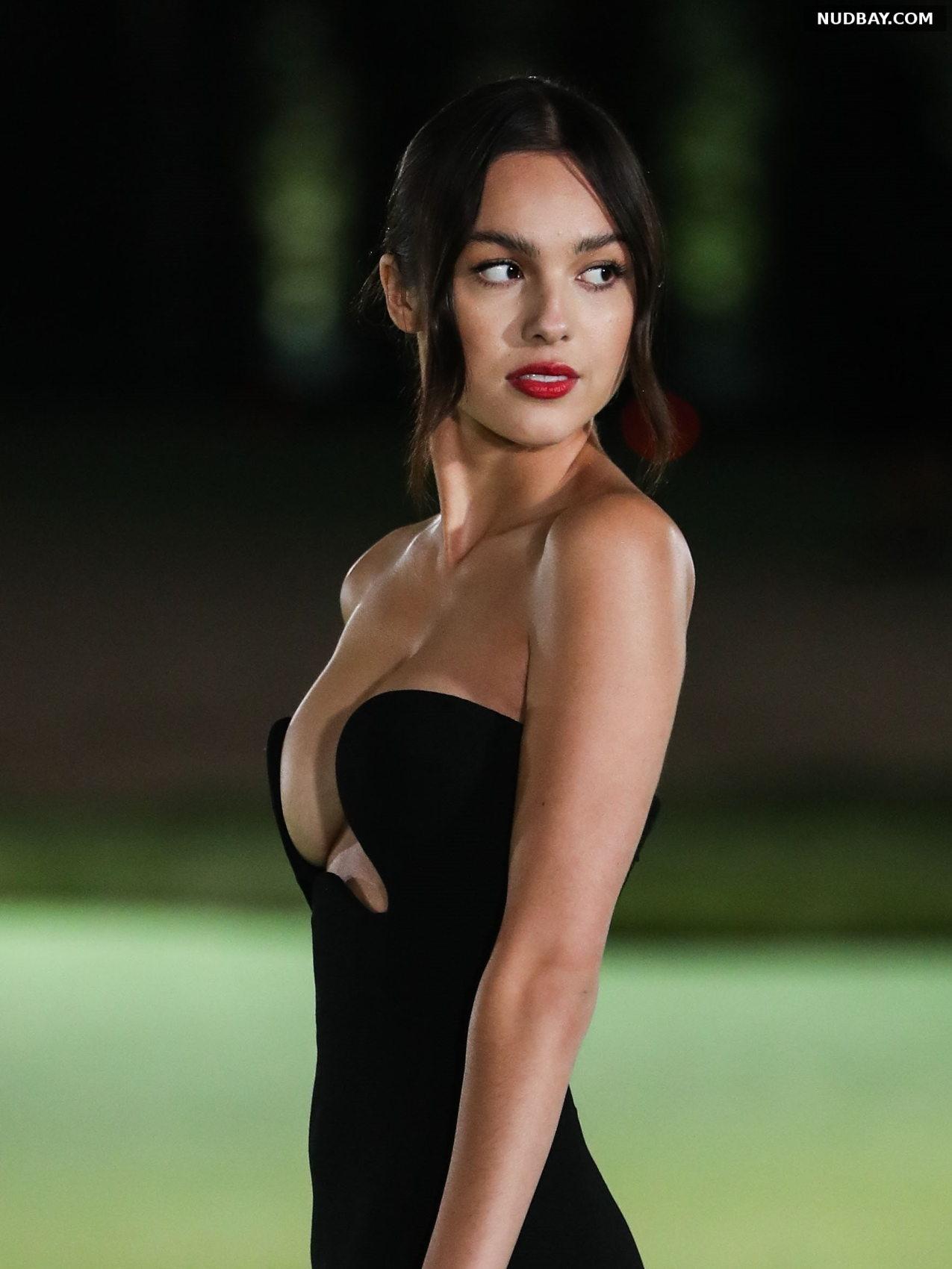 Olivia Rodrigo Side Boobs at opening Gala in LA Sep 25 2021