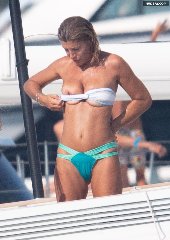 Raffaella Zardo oops on holiday n Porto Cervo Aug 22 2021