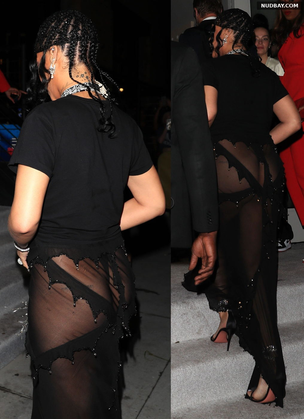 Rihanna Ass in see-through outfit for her Met Gala after-party in New York Sep 13 2021