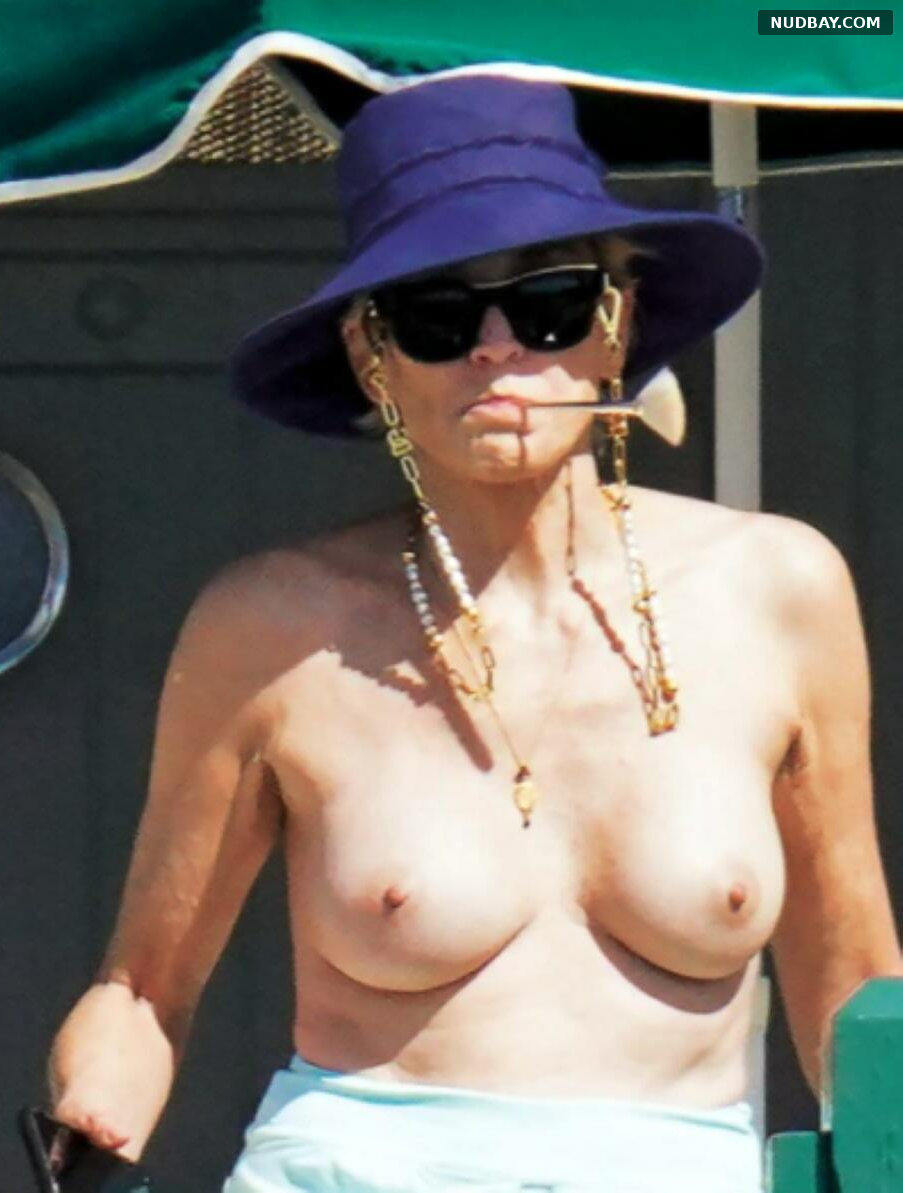 Sharon Stone nude at a beach in France Sep 24 2021