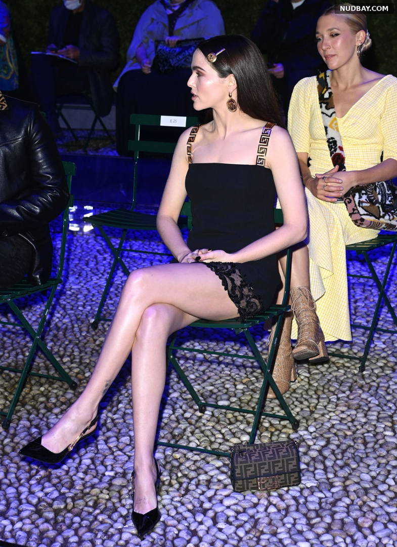 Zoey Deutch Leggy Versace special event during the Milan Fashion Week Sep 26 2021