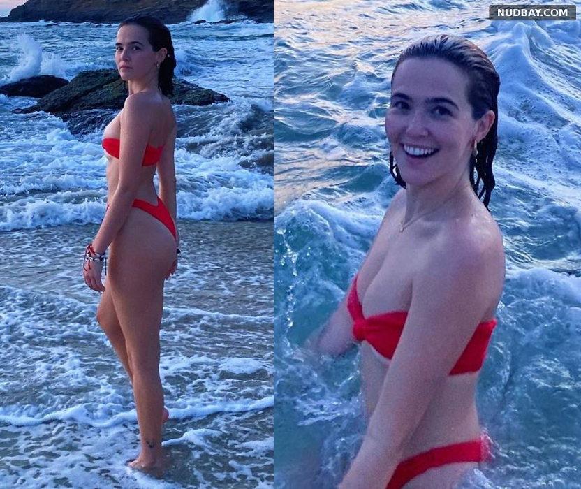 Zoey Deutch wearing a red bikini Nov 23 2020 01