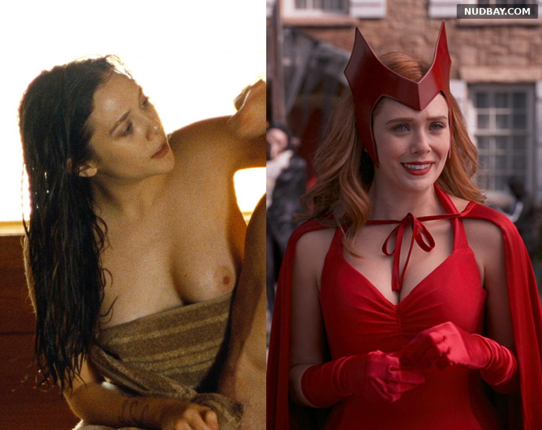 Elizabeth Olsen Nude showing big tits 2021