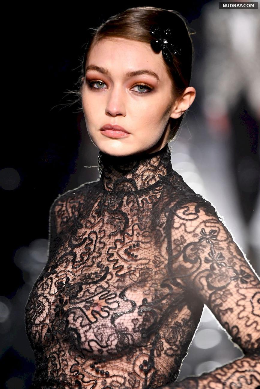 Gigi Hadid See-Thru Fashion Show in Hollywood Feb 07 2020