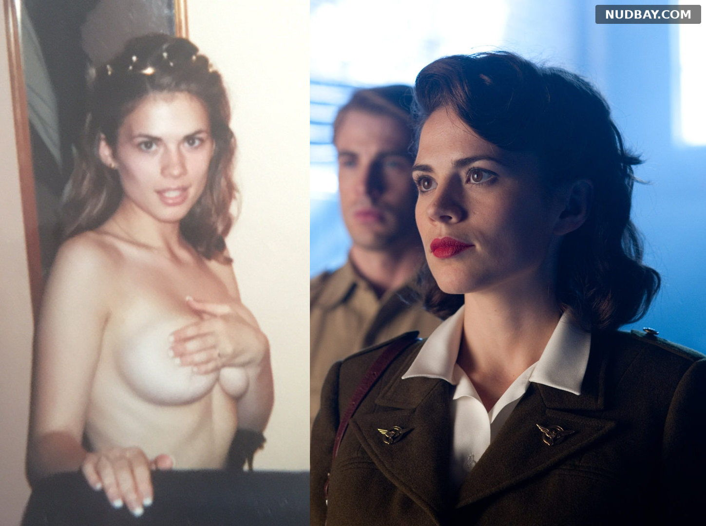 Hayley Atwell Captain America nude shows huge tits 2021
