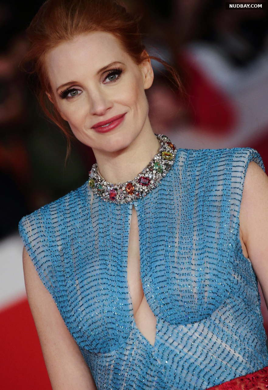 Jessica Chastain in carpet of the movie The eyes of Tammy Faye in Italy Oct 14 2021