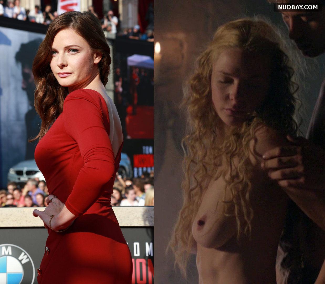 Rebecca Ferguson nude shows nice tits 2021
