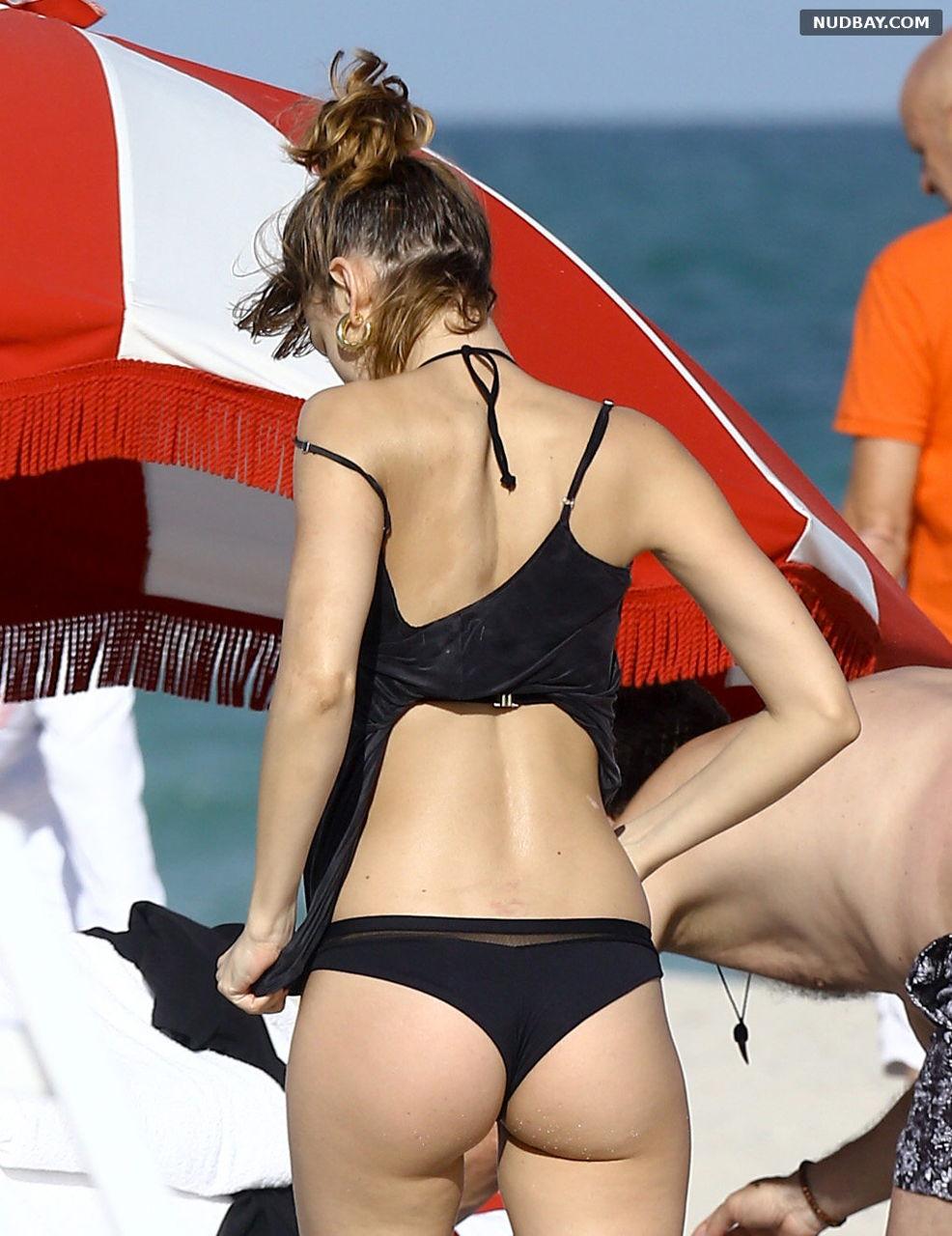 Ursula Corbero Ass At the Beach in Miami Florida December 04 2016