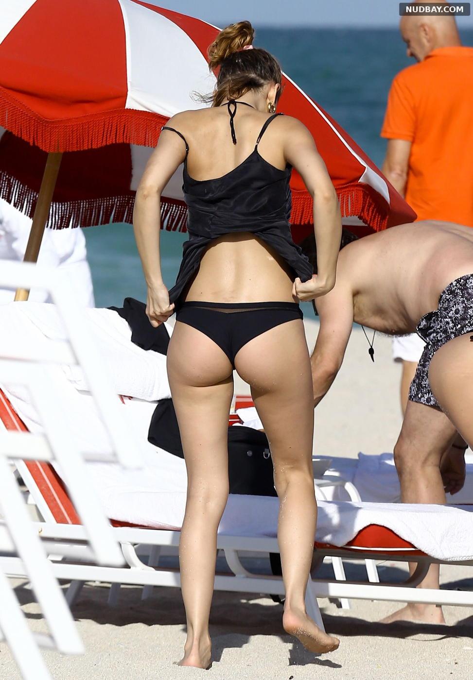 Ursula Corbero booty on the beach in Miami Florida December 04 2016